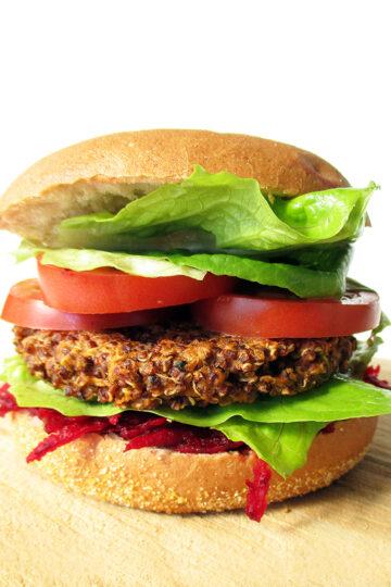 Vegane Glutenfreie Quinoa Bratlinge Burger Rezept 1 1