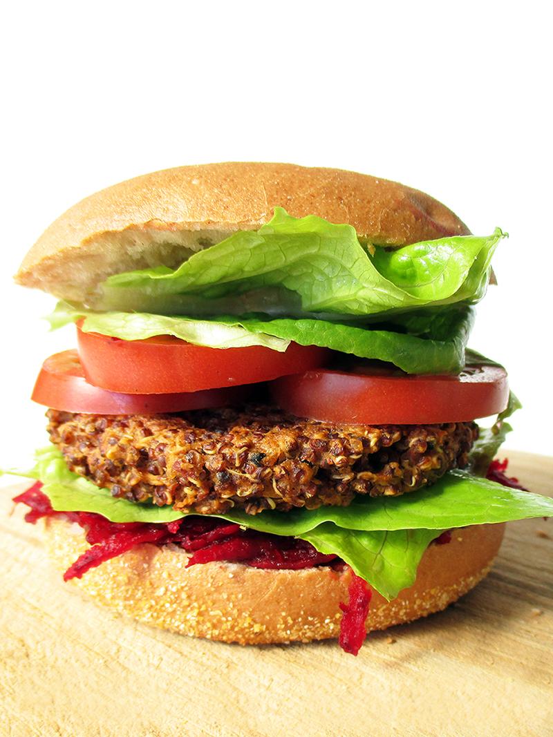 Vegane Glutenfreie Quinoa Bratlinge Burger Rezept 1