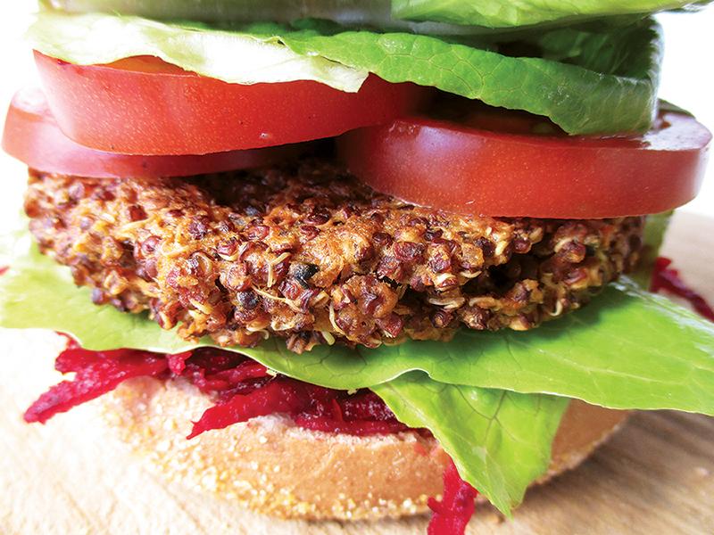 Vegane Glutenfreie Quinoa Bratlinge Burger Rezept 2