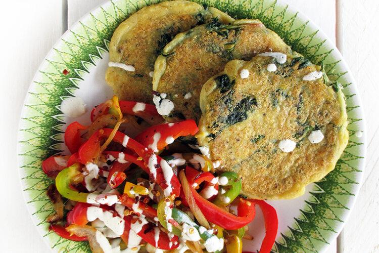 Vegane Glutenfreie Spinat Hartoffel Bratlinge Rezept 2 1