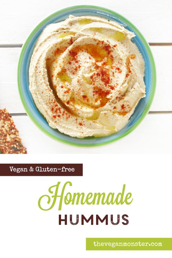 Easy Vegan Gluten free Home made Hummus Recipe P