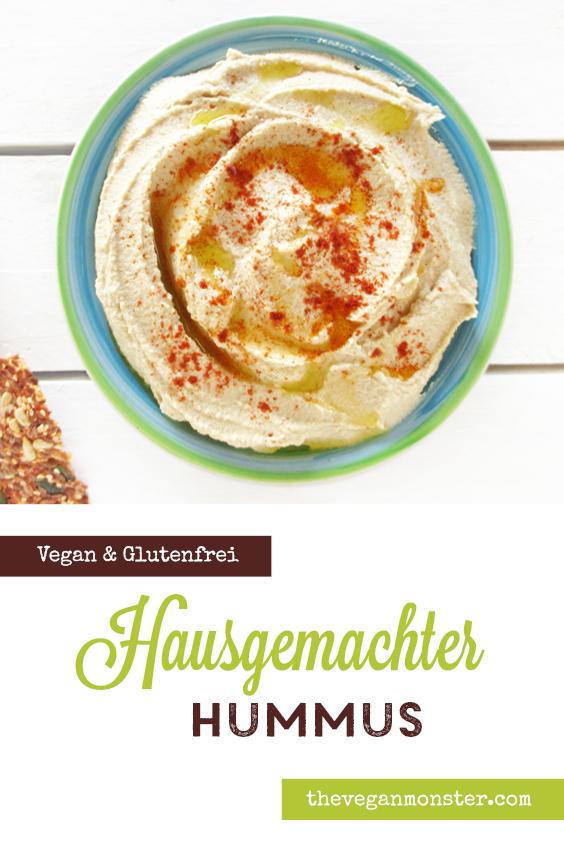 Einfacher Veganer Glutenfreier Hausgemachter Hummus Rezept P
