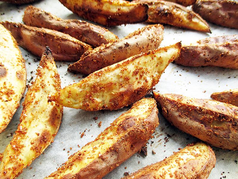 Vegan Gluten free Oil free Crispy Sweet Potato Kumara Wedges Recipe 2