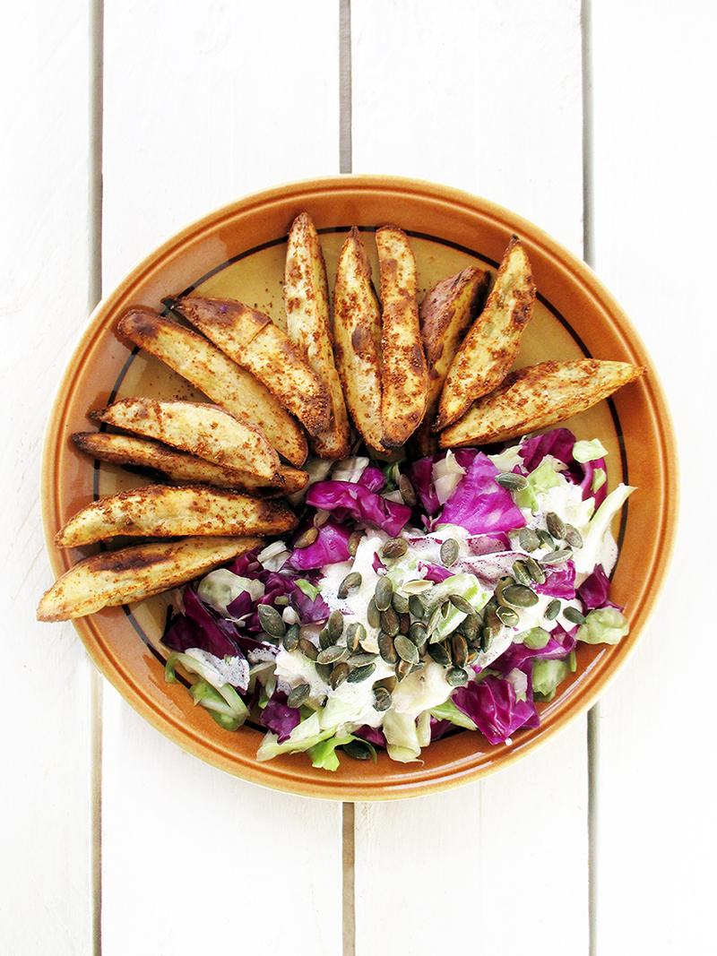 Vegan Gluten free Oil free Crispy Sweet Potato Kumara Wedges Recipe 3