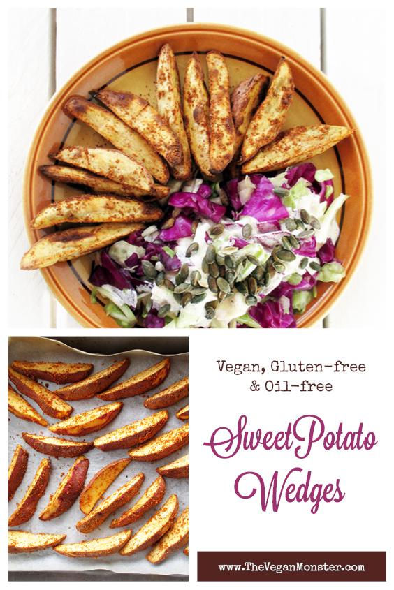 Vegan Gluten free Oil free Crispy Sweet Potato Kumara Wedges Recipe P1