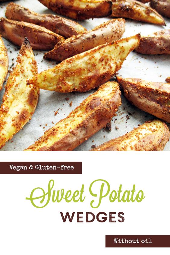 Vegan Gluten free Oil free Crispy Sweet Potato Kumara Wedges Recipe P2