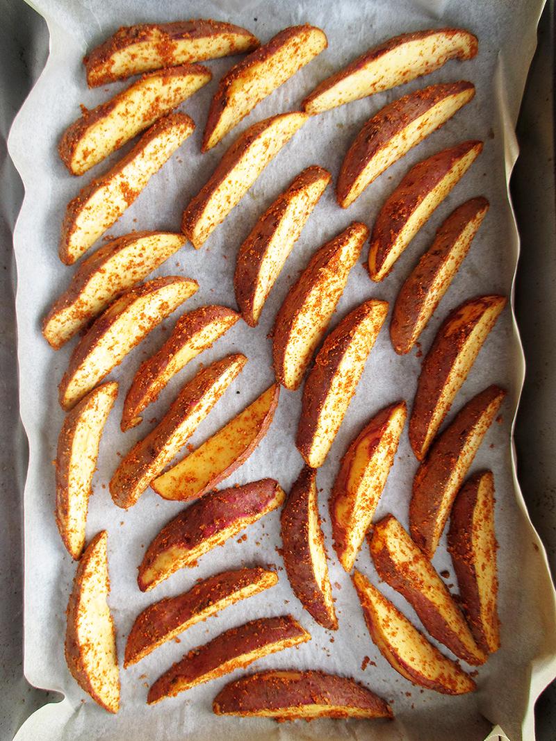 Vegane Glutenfreie Knusprige Suesskartoffel Spalten Ohne Oel Rezept 1