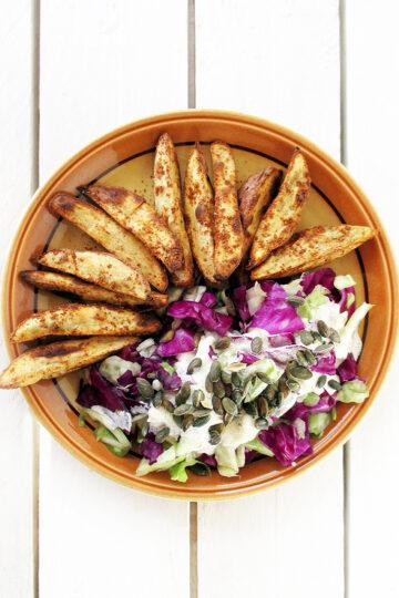 Vegane Glutenfreie Knusprige Suesskartoffel Spalten Ohne Oel Rezept 3 1