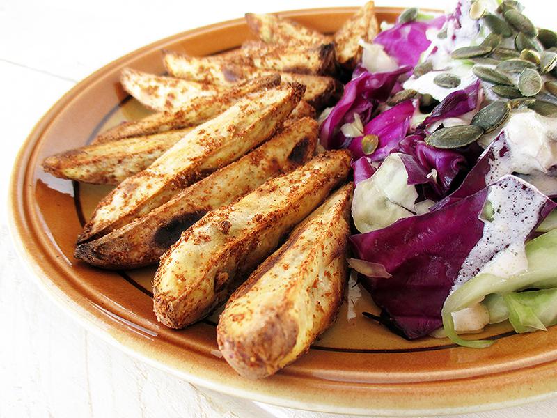 Vegane Glutenfreie Knusprige Suesskartoffel Spalten Ohne Oel Rezept 4