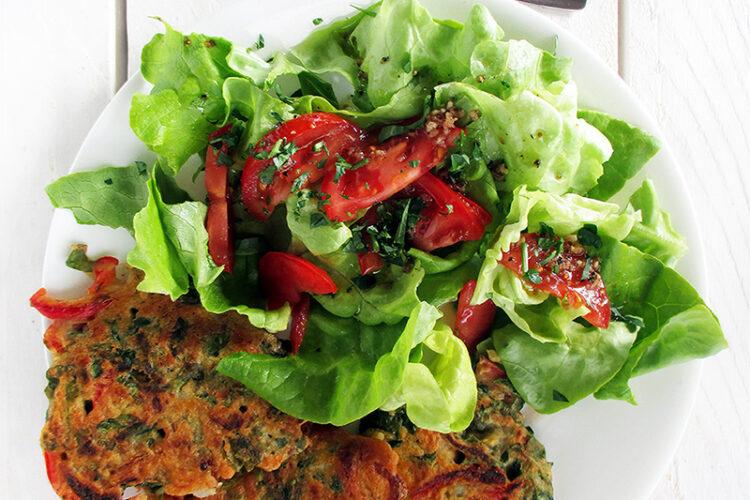 Vegane Glutenfreie Paprika Brunnenkresse Bratlinge Rezept 1 1