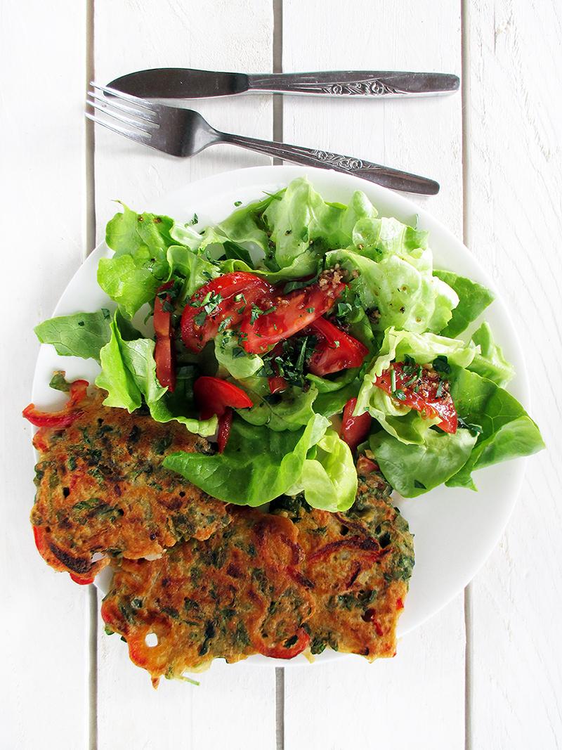 Vegane Glutenfreie Paprika Brunnenkresse Bratlinge Rezept 1