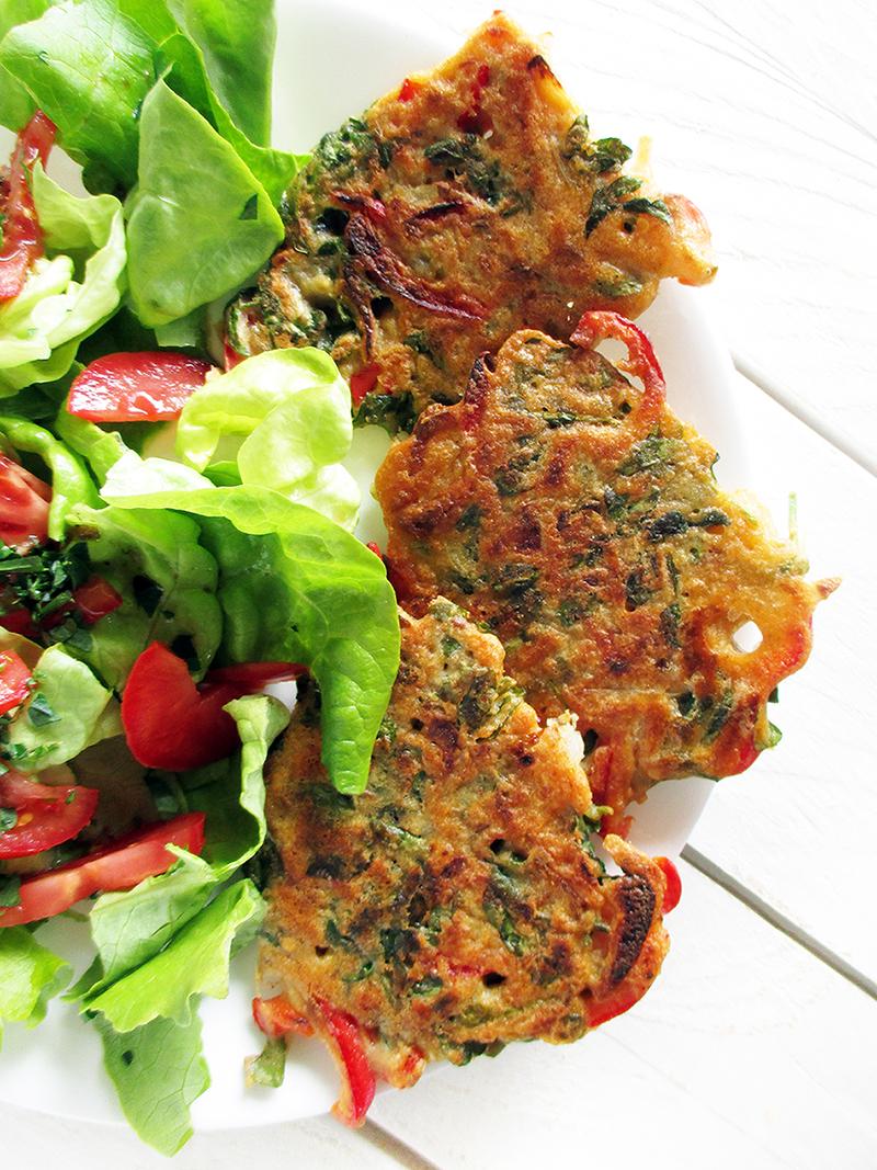 Vegane Glutenfreie Paprika Brunnenkresse Bratlinge Rezept 3
