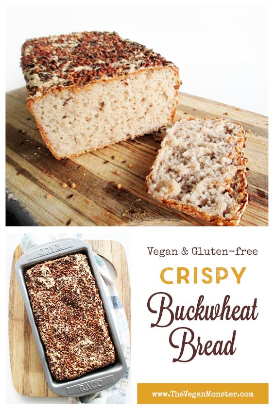 Vegan Gluten free Crispy Buckwheat Bread Recipe P1