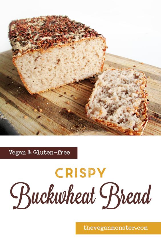 Vegan Gluten free Crispy Buckwheat Bread Recipe P2