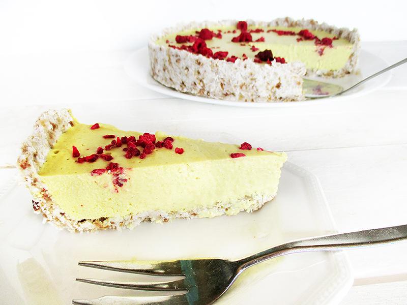 Vegan Gluten free No Bake Nut free Lemon Tart Cake Recipe 2