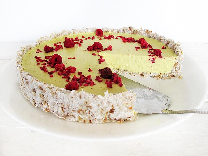 Vegan Gluten free No Bake Nut free Lemon Tart Cake Recipe 5