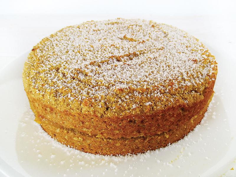 Vegan Gluten free Oil free Pumpkin Polenta Lemon Cake Recipe 1