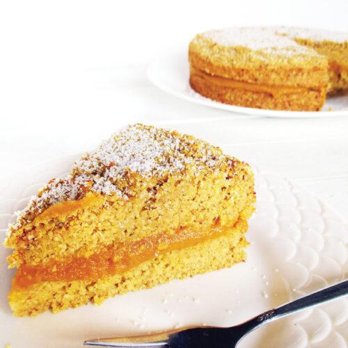 Veganer Glutenfreier Polenta Kuerbis Zitronen Kuchen Ohne Oel Rezept 3 1