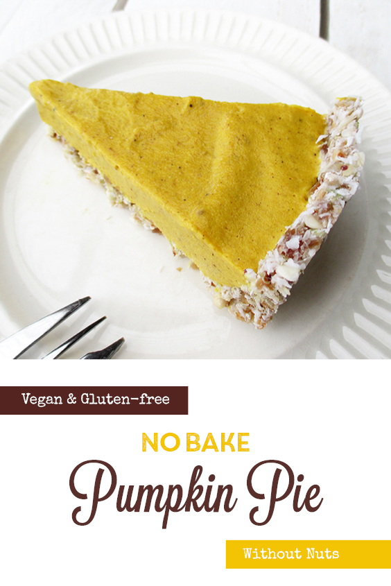 Vegan Gluten free Nut free No Bake Pumpkin Pie Cake Recipe P2