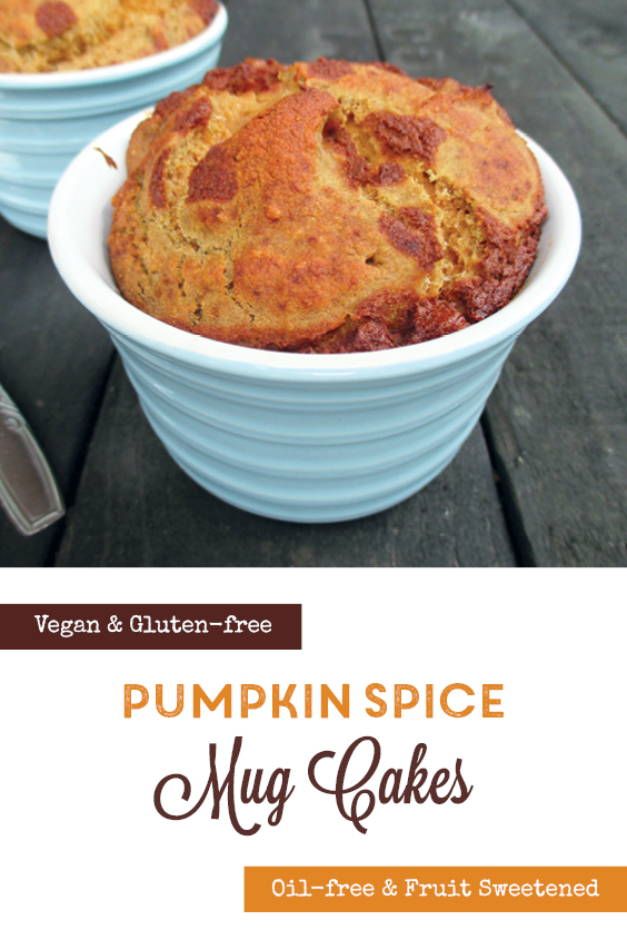Vegan Gluten free Oil free Pumpkin Spice Mug Cakes Recipe P2