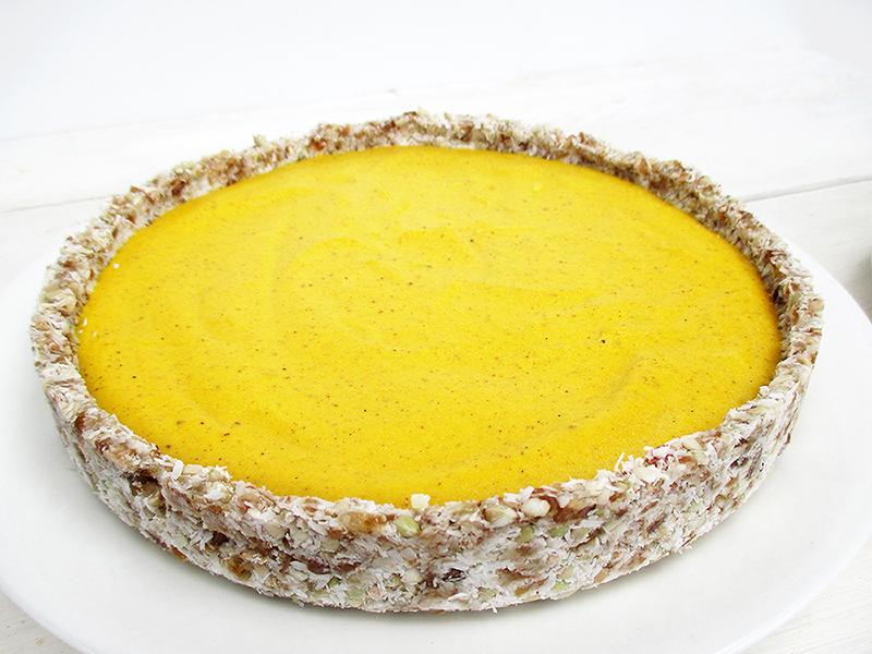 Veganer Glutenfreier Nix Backen Kuerbis Kuchen Pumpkin Pie Ohne Nuesse Rezept 1