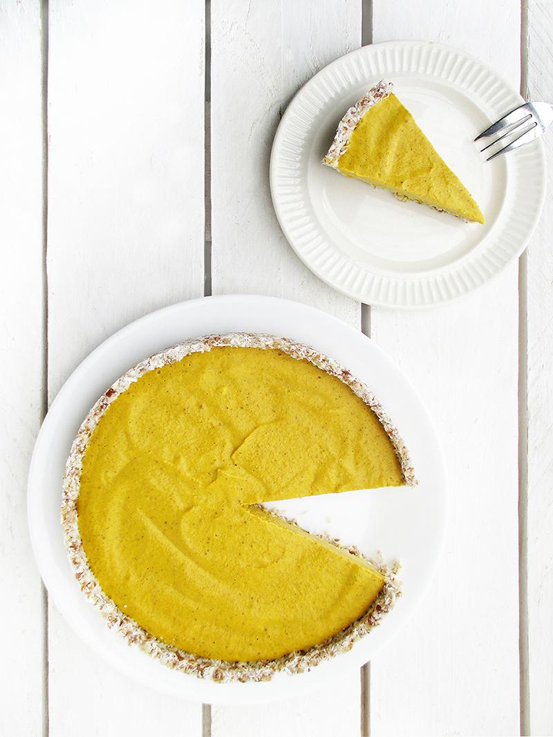 Veganer Glutenfreier Nix Backen Kuerbis Kuchen Pumpkin Pie Ohne Nuesse Rezept 2