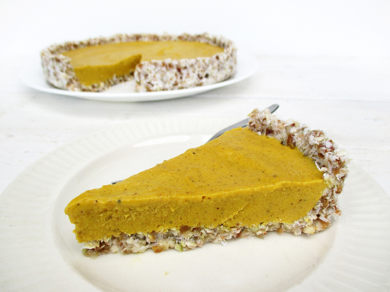 Veganer Glutenfreier Nix Backen Kuerbis Kuchen Pumpkin Pie Ohne Nuesse Rezept 3