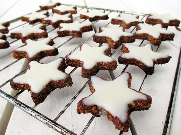 Vegan Gluten free Cinnamon Star Cookies Without Refined Sugar Egg free Soy free Recip2