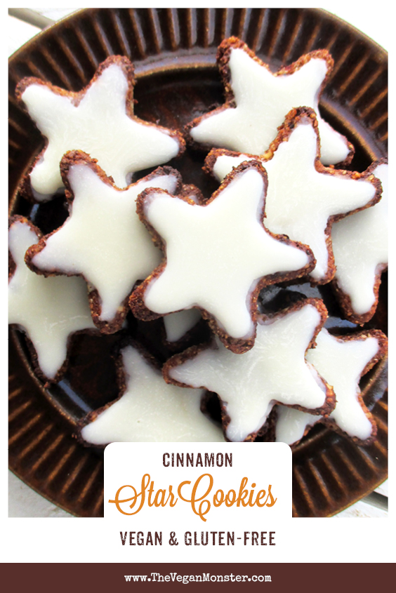 Vegan Gluten free Cinnamon Star Cookies Without Refined Sugar Egg free Soy free Recipe