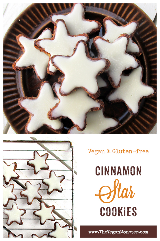 Vegan Gluten free Cinnamon Star Cookies Without Refined Sugar Egg free Soy free Recipe2