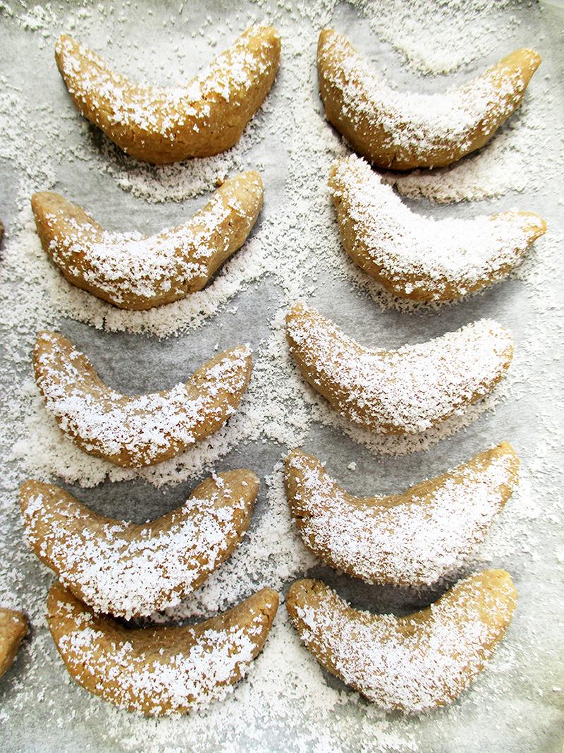 Vegan Gluten free Vanilla Cornets Cookie Christmas Recipe 1