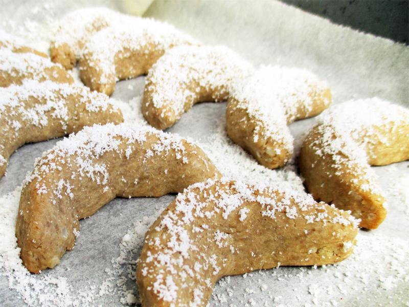 Vegan Gluten free Vanilla Cornets Cookie Christmas Recipe 2