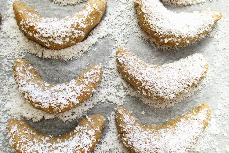 Vegane Glutenfreie Vanille Kipferl Weihnachts Plaetzchen Rezept 1 1