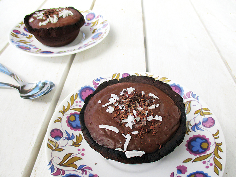 Vegan Gluten free Chocolate Custard Tarts Mini Cakes Recipe 3