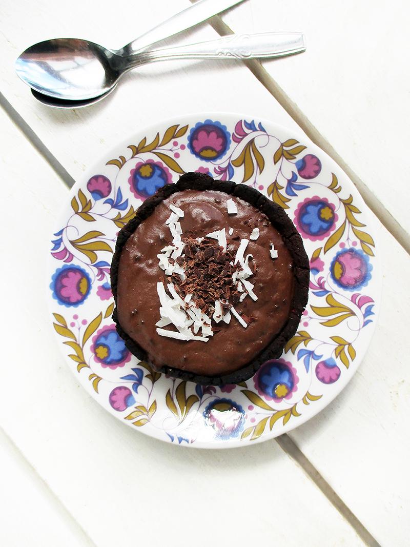 Vegan Gluten free Chocolate Custard Tarts Mini Cakes Recipe