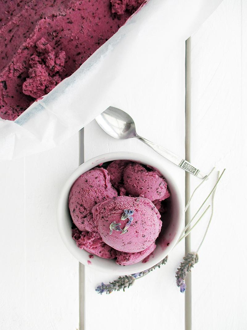 Vegan Gluten free Dairy free Fruit Sweetened Blueberry Lavender Ice Cream Recipe 3