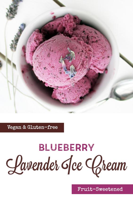 Vegan Gluten free Dairy free Fruit Sweetened Blueberry Lavender Ice Cream Recipe P2