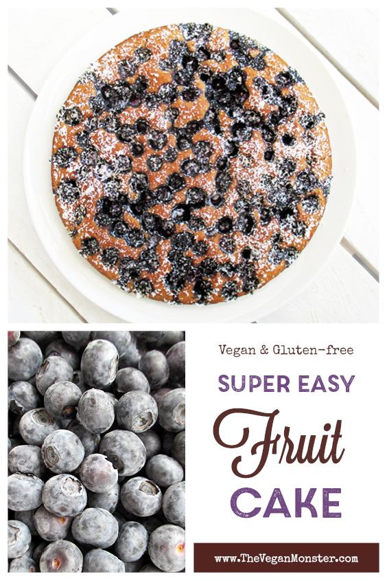 Vegan Gluten free Easy Fruit Cake Recipe P