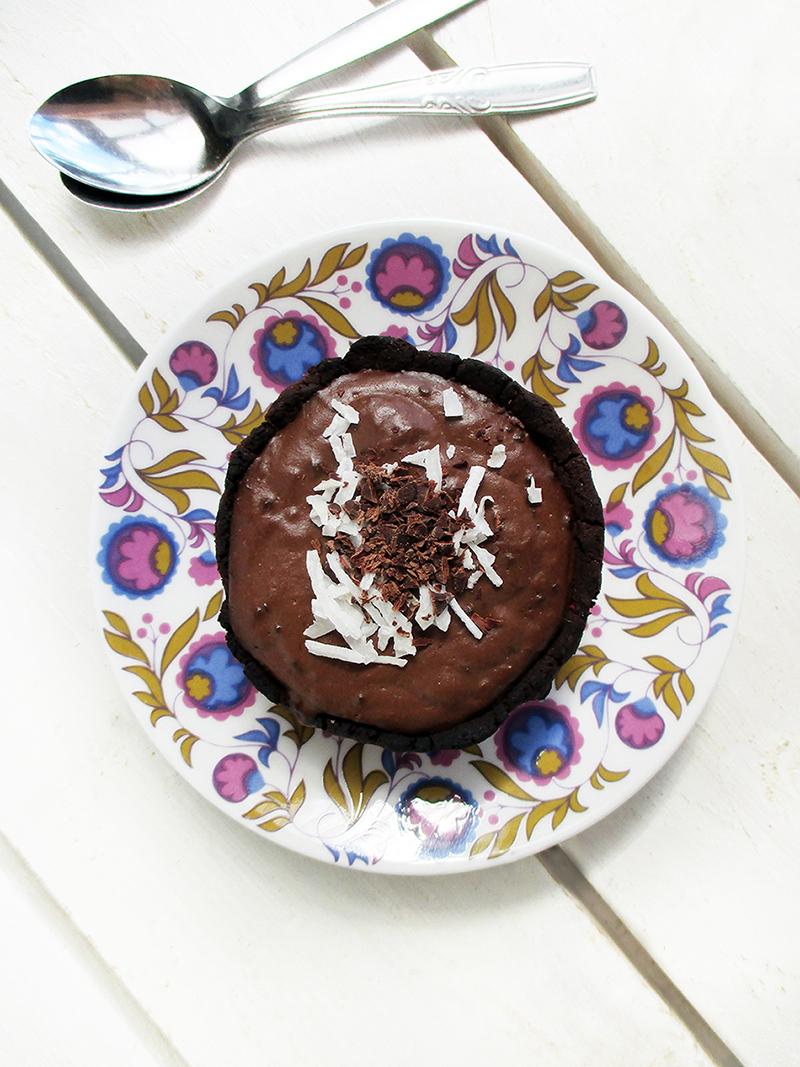 Vegane Glutenfreie Mini Schoko Pudding Toertchen Ohne Oel Rezept 1