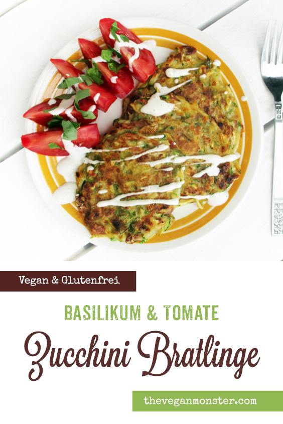 Vegane Glutenfreie Zucchini Basilikum Tomate Bratlinge Rezept P4