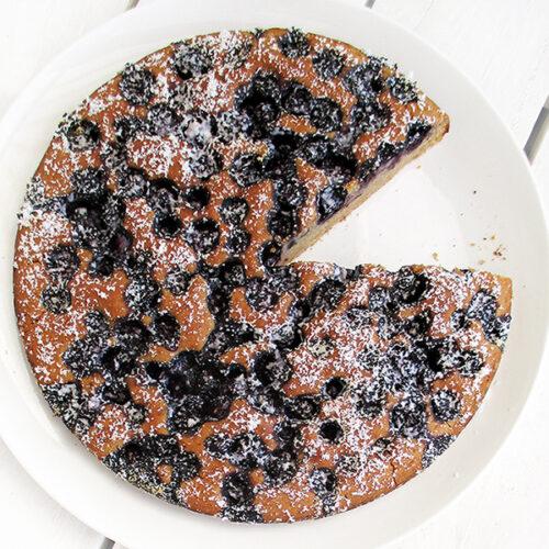 Veganer Glutenfreier Einfacher Frucht Beeren Kuchen Rezept 4 1