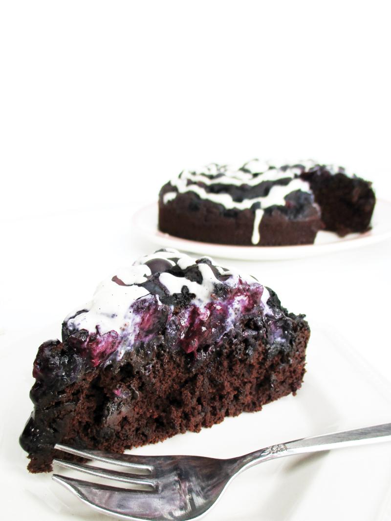 Vegan Dairy free Egg free Gluten free Chocolate Blueberry Cake Recipe 4