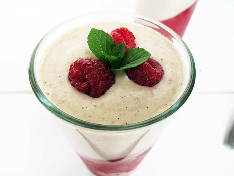 Vegan Gluten free Dairy free Fruit Sweetened Raspberry Jelly With Vanilla Custard Recipe