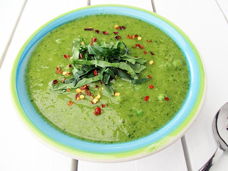 Vegan Gluten free Green Power Soup Recipe 1