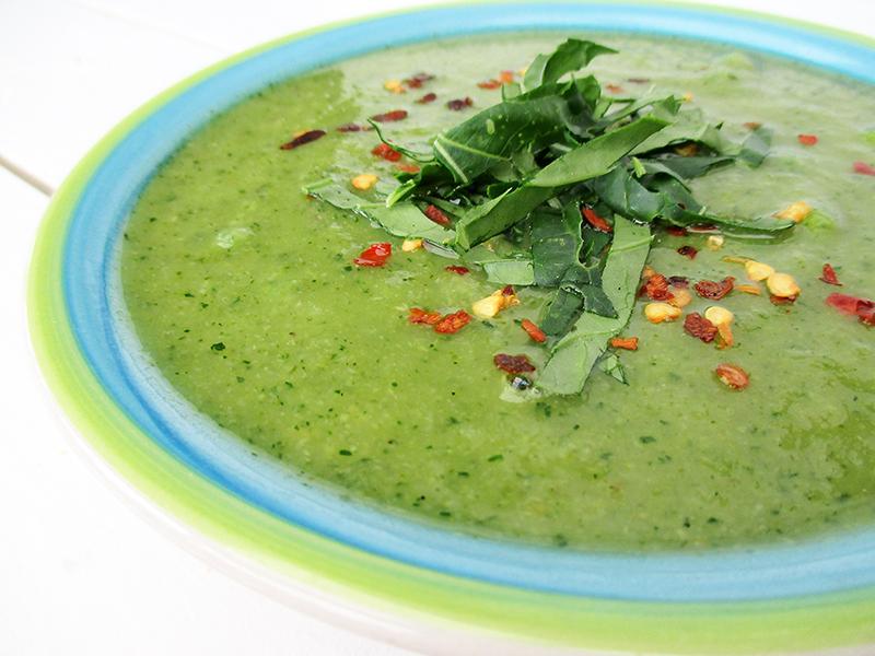 Vegane Glutenfreie Green Power Suppe Rezept 4