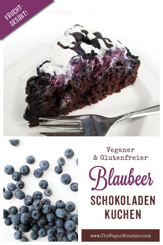 Veganer Glutenfreier Schokoladen Blaubeer Kuchen Ohne Kristallzucker Rezept P2