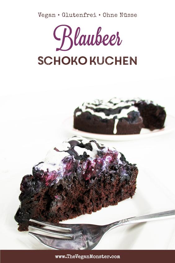 Veganer Glutenfreier Schokoladen Blaubeer Kuchen Ohne Kristallzucker Rezept P4