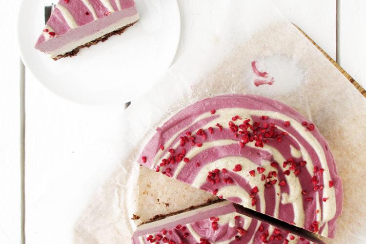 Vegan Gluten free Dairy free No Bake Raspberry Vanilla Cake Recipe 1 1