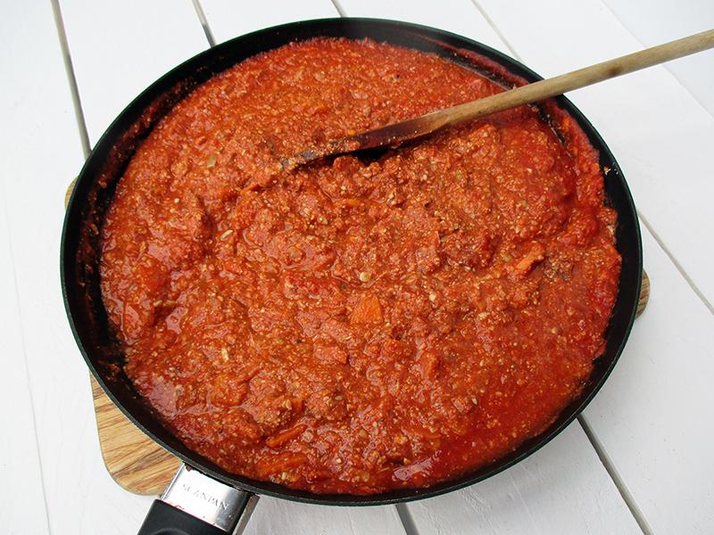 Vegan Gluten free No Meat Sunflower Seed Pasta Bolognese Sauce Recipe 3