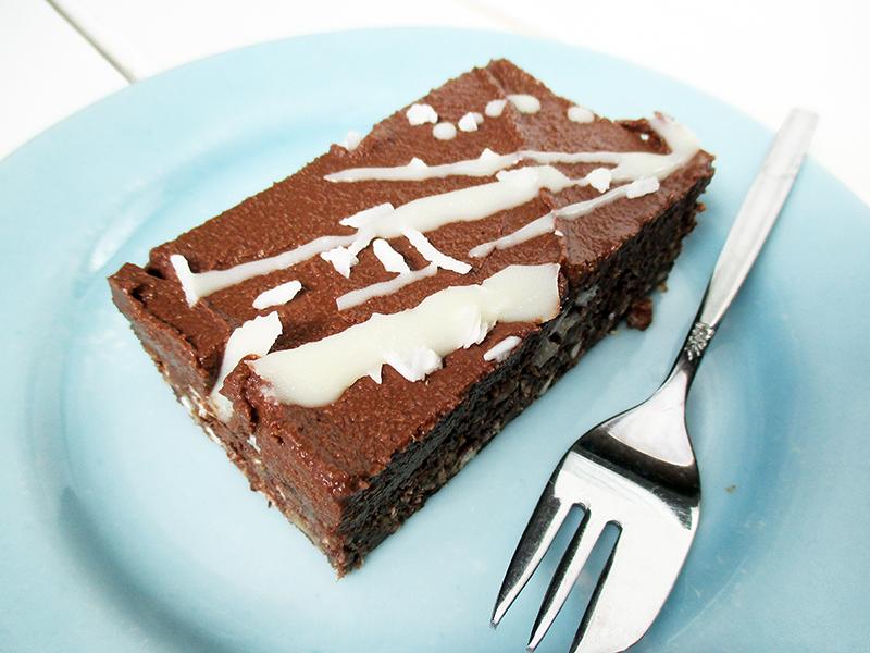 Vegan Gluten free Nut free No Bake Brownie Slice Recipe 1